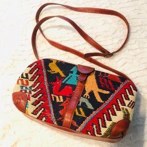 Vintage Boho Tribal Aztec Shoulder Bag